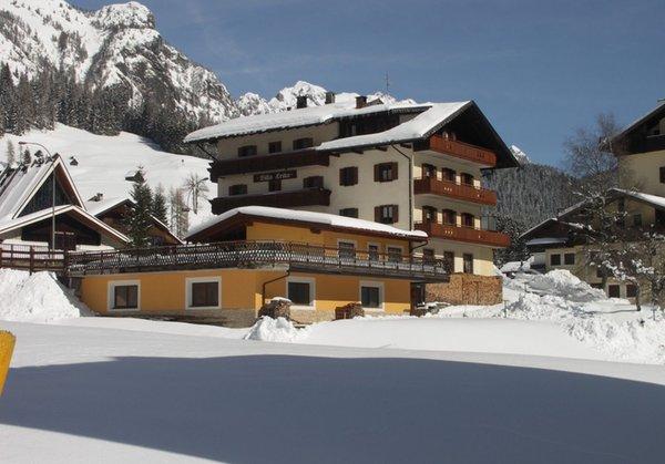 Foto esterno in inverno Villa Erika