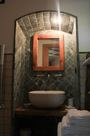 Foto del bagno Camere in agriturismo Voltan Haus