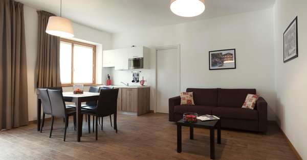 La zona giorno Residence Cavanis Wellness & Private Spa
