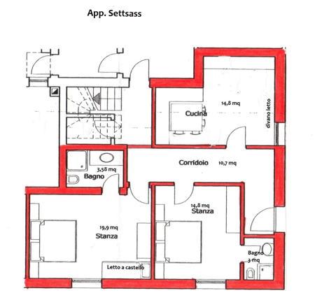 La planimetria Appartamenti Amonit