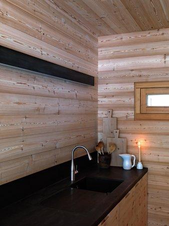 Foto della cucina Mountain Lodge Tamersc