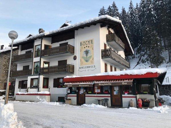Foto invernale di presentazione Albergo Genzianella