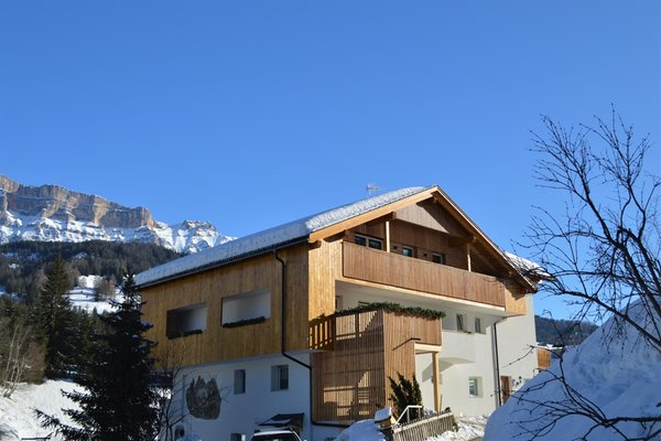 Foto invernale di presentazione Ciasa Andy - Appartamenti 2 soli