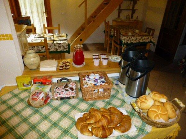 Das Frühstück Piana di Nebbiù - Bed & Breakfast 2 Löwen