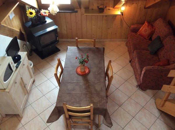 The living area Apartment wooden attic Titti