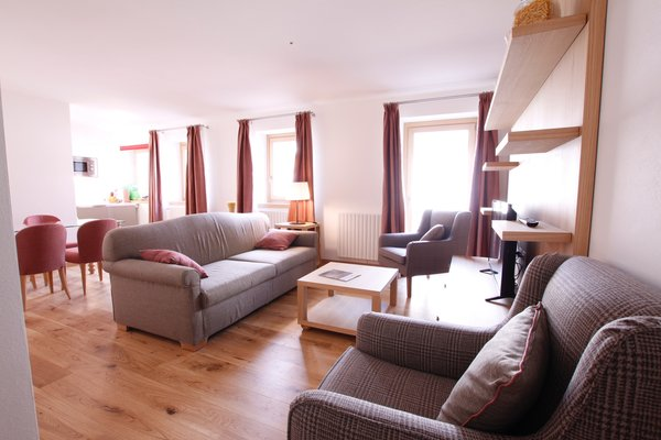 La zona giorno Chalet Falorie - Appartamenti