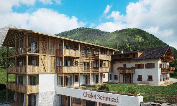 Foto estiva di presentazione Chalet Schmied - B&B + Appartamenti 3 stelle sup.