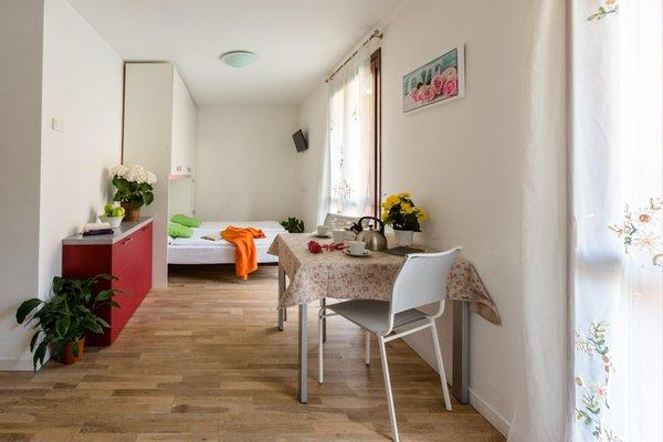 The living area Residence La Rosa delle Dolomiti