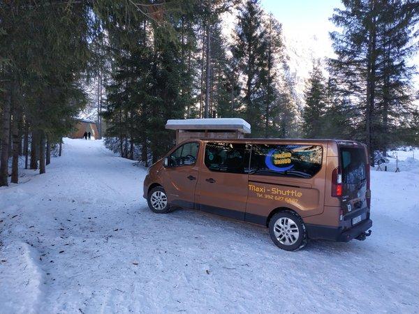 Foto invernale di presentazione Taxi Packo-Tango