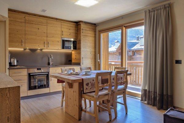 La zona giorno Livigno Wooden House - Appartamenti 4 stelle