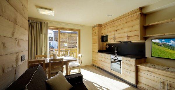 La zona giorno Appartamenti Livigno Wooden House