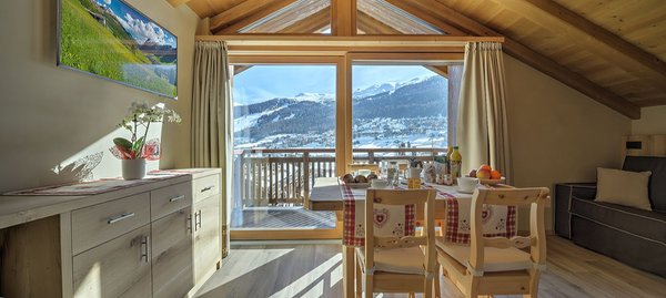 The living area Apartments Livigno Wooden House