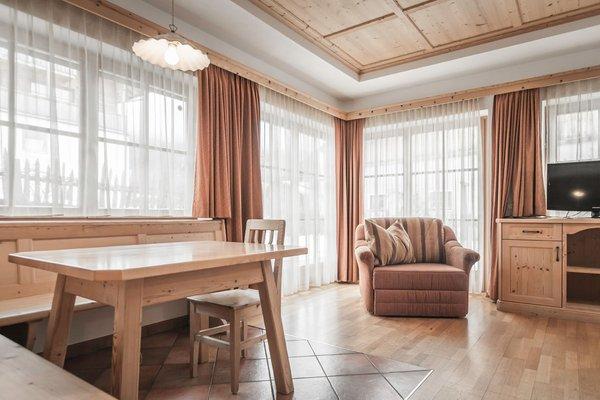 La zona giorno Mareo Dolomites - Hotel 4 stelle
