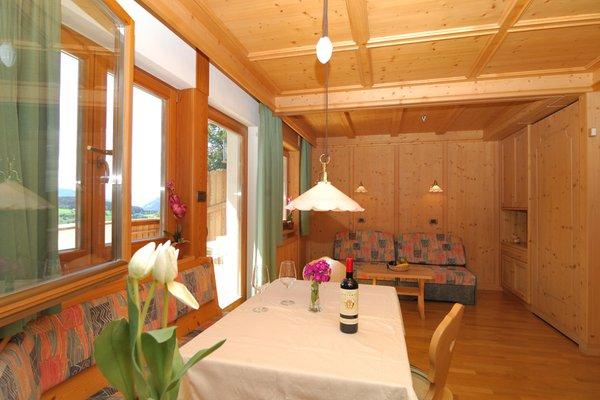 La zona giorno Appartamenti Villa Nussbaumer