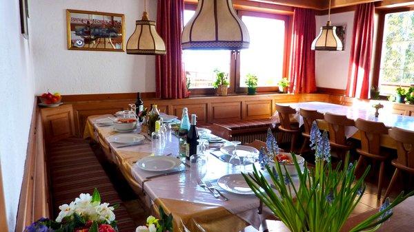 Il ristorante San Vigilio Albergo Alpino Panorama