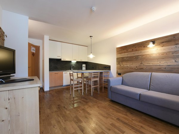 The living area Apart Residence Rautal B&B - B&B (Garni) + Residence 3 stars sup.