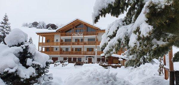 Foto esterno in inverno Ciasa ChiVai