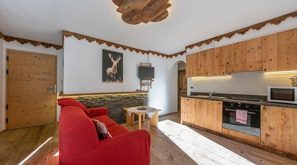 La zona giorno Alpine Residence Villa Adler