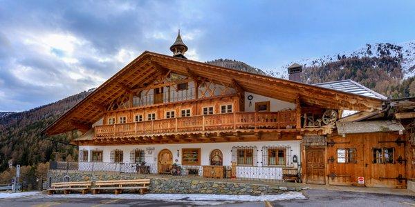 Foto esterno in inverno Schmiedhof