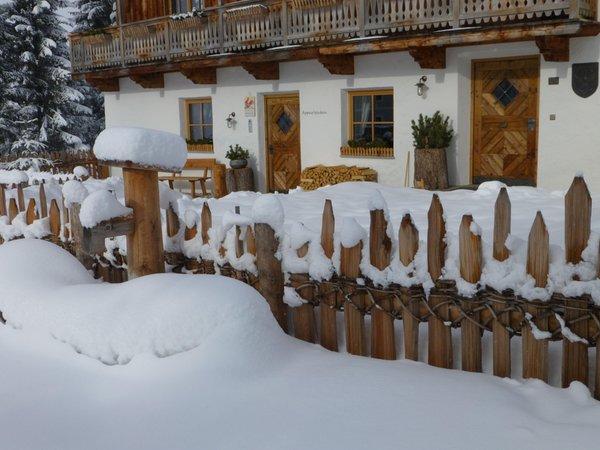 Foto esterno in inverno Bruggerhof