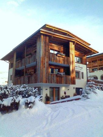 Foto invernale di presentazione Appartamenti Ciasa Rungg