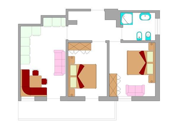 La planimetria Appartamenti Ciasa Villa Maria