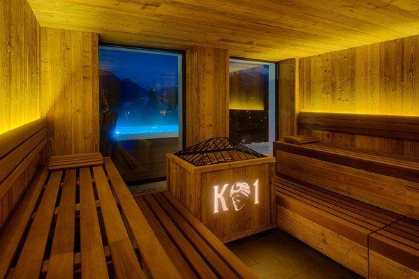 Photo of the wellness area K1 Mountain Chalet