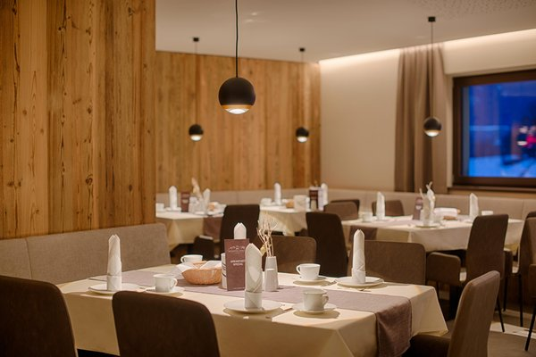 Il ristorante Riscone K1 Mountain Chalet