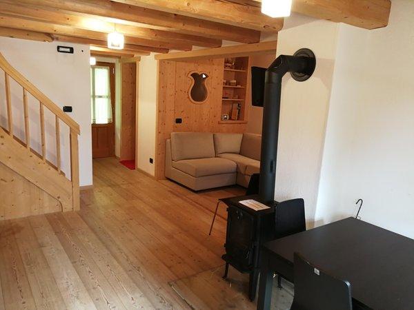 Der Wohnraum Ferienhaus Tabià Su'n Coi