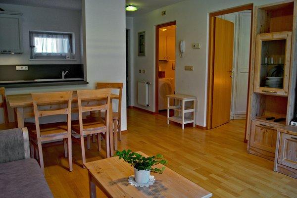La zona giorno Pensione + Appartamenti Prack