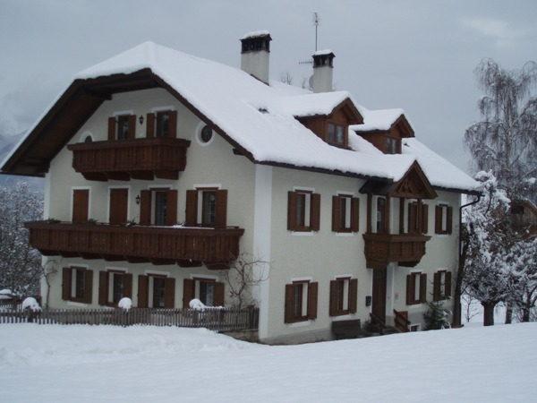 Winter Präsentationsbild Ferienwohnungen auf dem Bauernhof Kleinflatscherhof