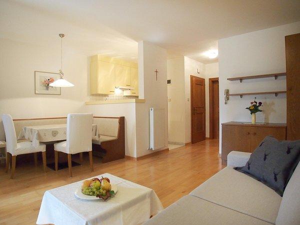 La zona giorno Appartamenti Tamanhof