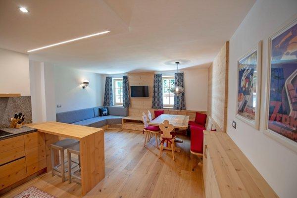 La zona giorno Appartamento Alpen Domus