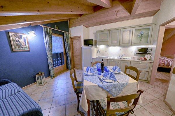 Der Wohnraum Rosengarden Alpine Residence