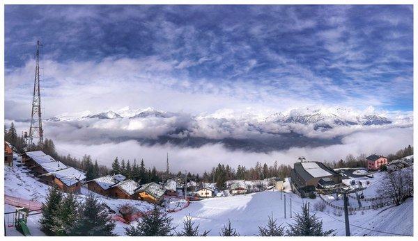 Panoramic view Pila (Aosta)