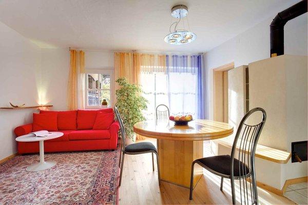 La zona giorno B&B + Appartamenti in agriturismo Grotthof