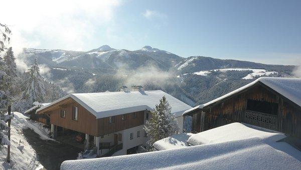 Foto invernale di presentazione B&B + Appartamenti in agriturismo Grotthof