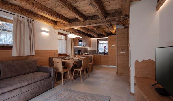 La zona giorno Stella Alpina Suite - Appartamenti