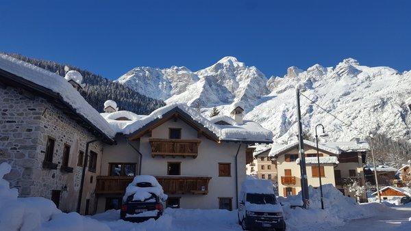Foto invernale di presentazione Stella Alpina Suite