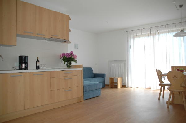 La zona giorno Sonnberg - Residence 3 stelle