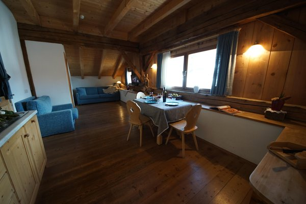 The living area Osteria Plazores - rustic sleep - Farmhouse apartments 3 flowers