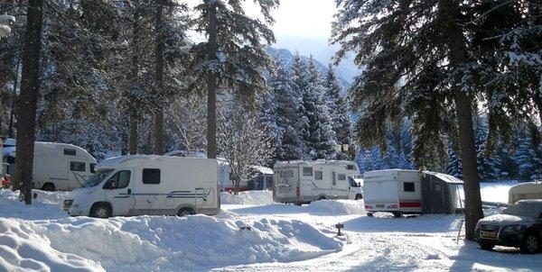 Foto invernale di presentazione Camping Al Plan
