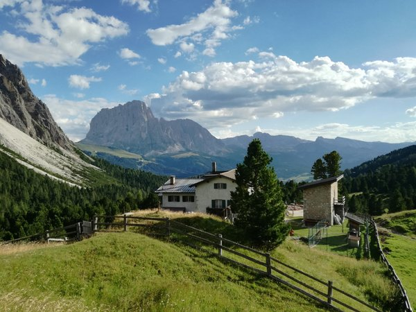 La posizione Utia de Ncisles - Rifugio Firenze - Regensbergerhütte Santa Cristina