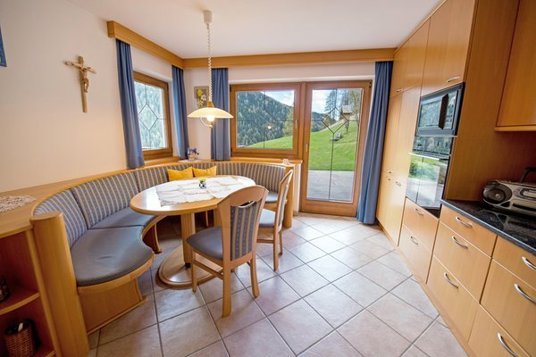 La zona giorno Appartamento Chalet Prinoth