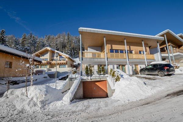Foto esterno in inverno Ciasa Dolomites