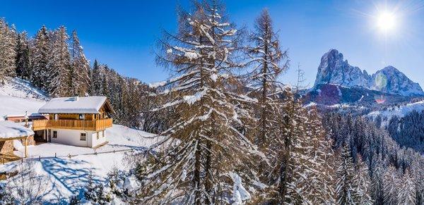 Foto invernale di presentazione Chalet Aghel