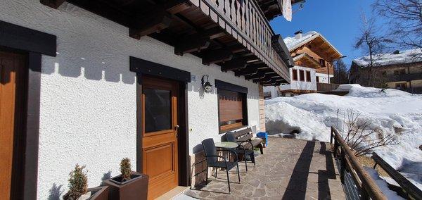Foto Außenansicht im Winter Casa Piva