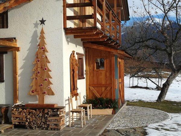 Photo exteriors in winter Chalet La Casetta Nel Frutteto