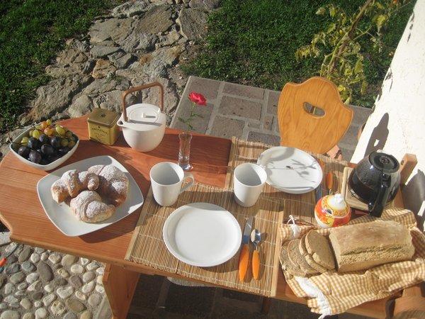 The breakfast Chalet La Casetta Nel Frutteto