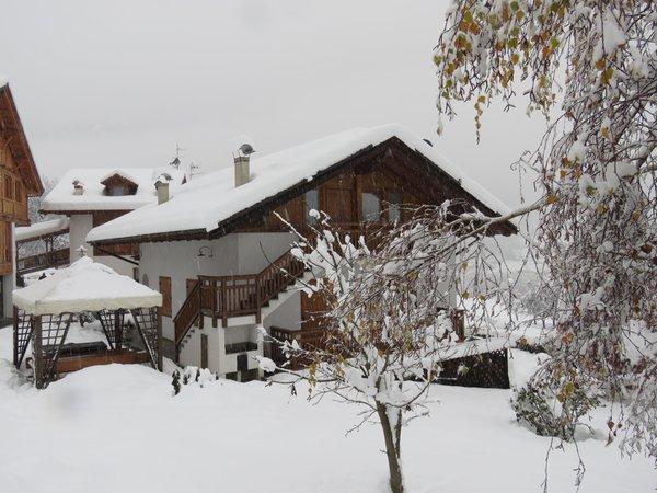 Winter Präsentationsbild Ferienwohnungen Villetta Val di Sole